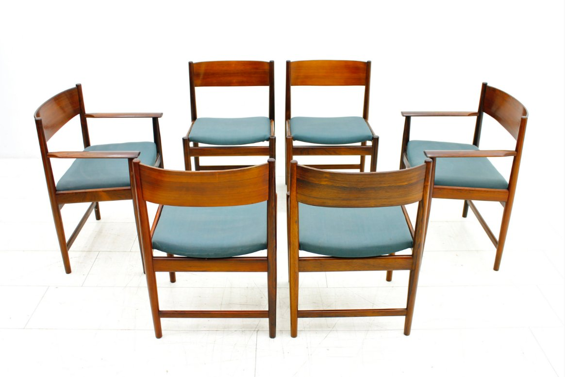 Rosewood Dining Chairs By Arne Vodder For Sibast Furniture 1960s Set Of 6 Sale At Pamono