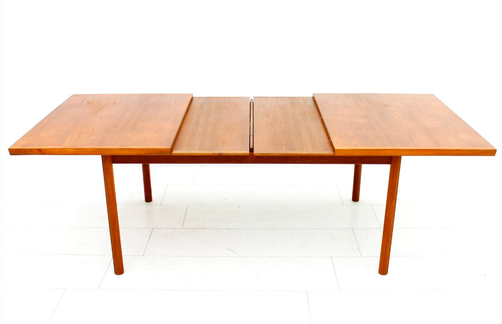 teak extension dining table from france sn 1960s - Extension Dining Table