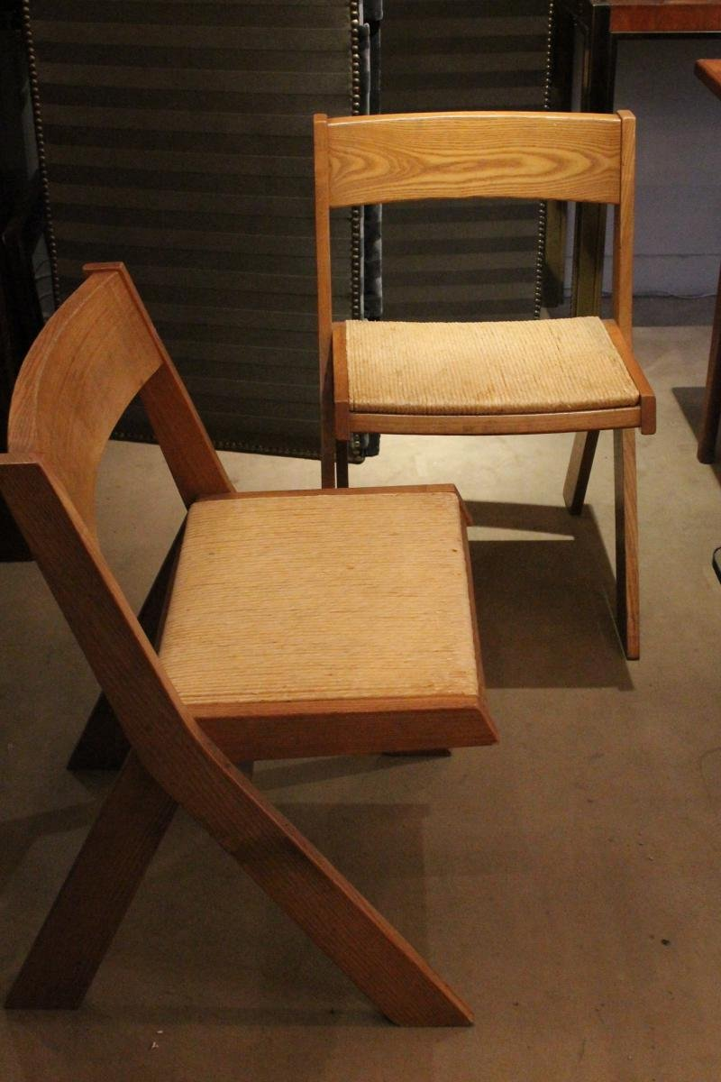 mid century wooden dining chairs 1950s set of 4 for sale at pamono. Black Bedroom Furniture Sets. Home Design Ideas