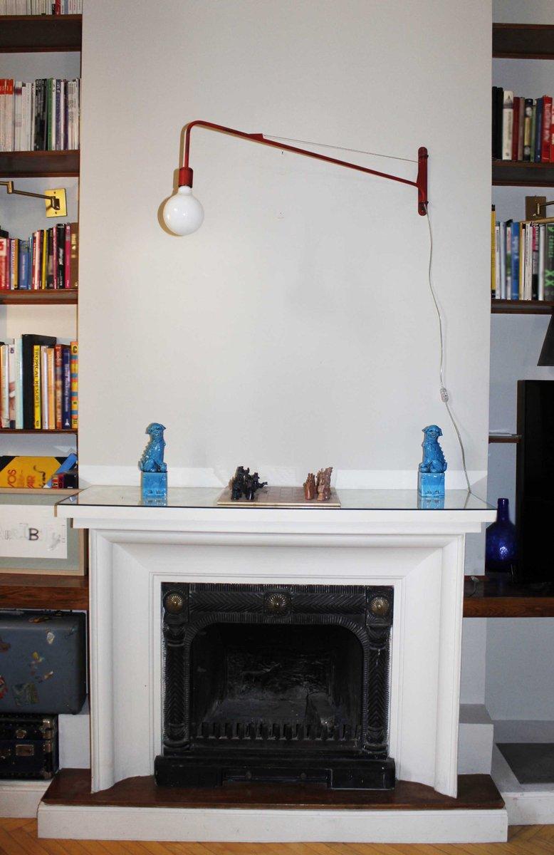 rote industrie wandlampe bei pamono kaufen. Black Bedroom Furniture Sets. Home Design Ideas