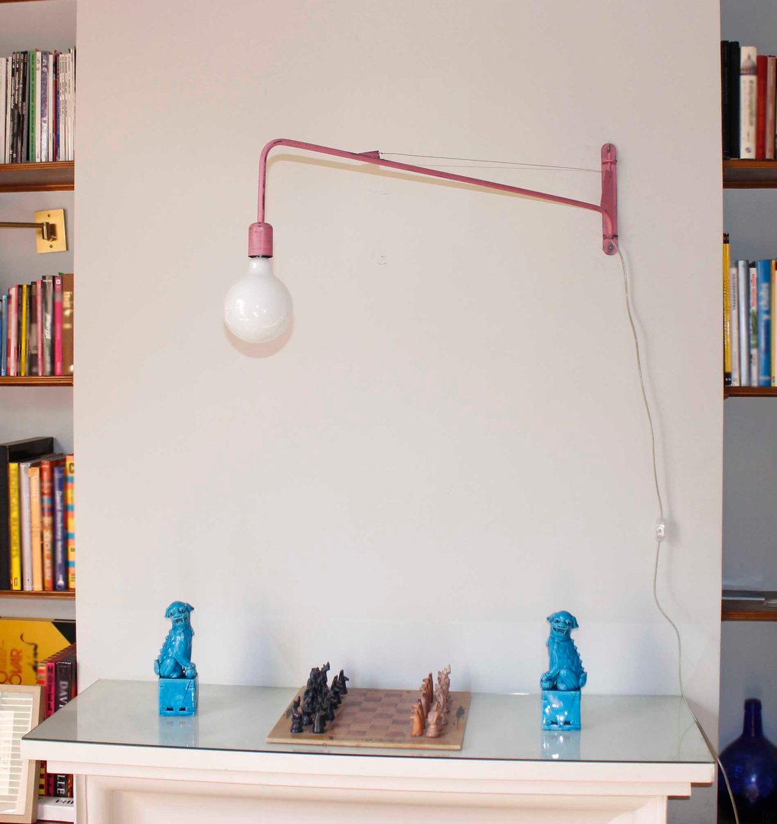 pinke industrie wandlampe bei pamono kaufen. Black Bedroom Furniture Sets. Home Design Ideas