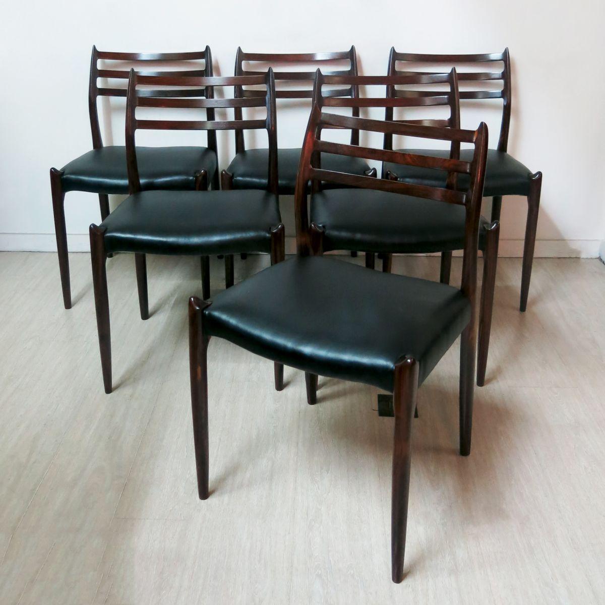 esszimmerst hle von niels o m ller 1960 6er set bei pamono kaufen. Black Bedroom Furniture Sets. Home Design Ideas