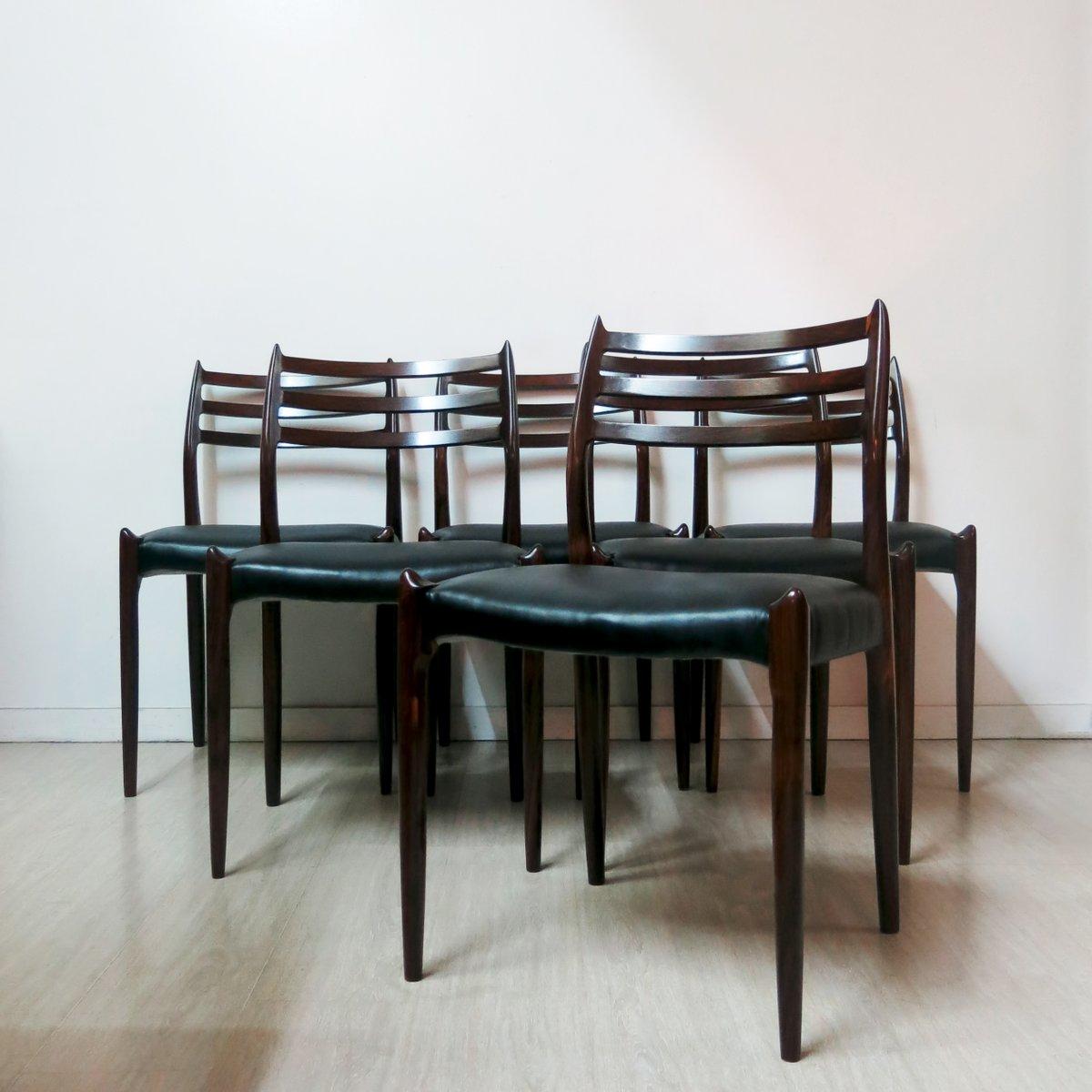 esszimmerst hle von niels o m ller 1960 6er set bei. Black Bedroom Furniture Sets. Home Design Ideas