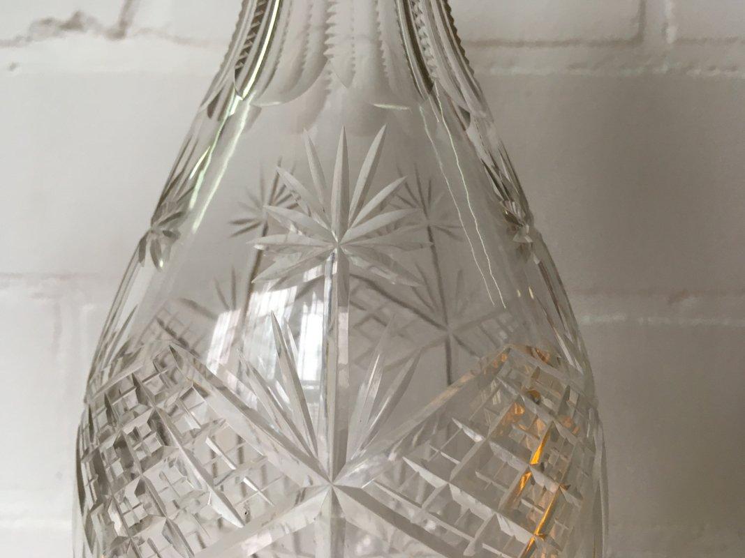 lik rflasche aus geschliffenem glas 1900er bei pamono kaufen. Black Bedroom Furniture Sets. Home Design Ideas