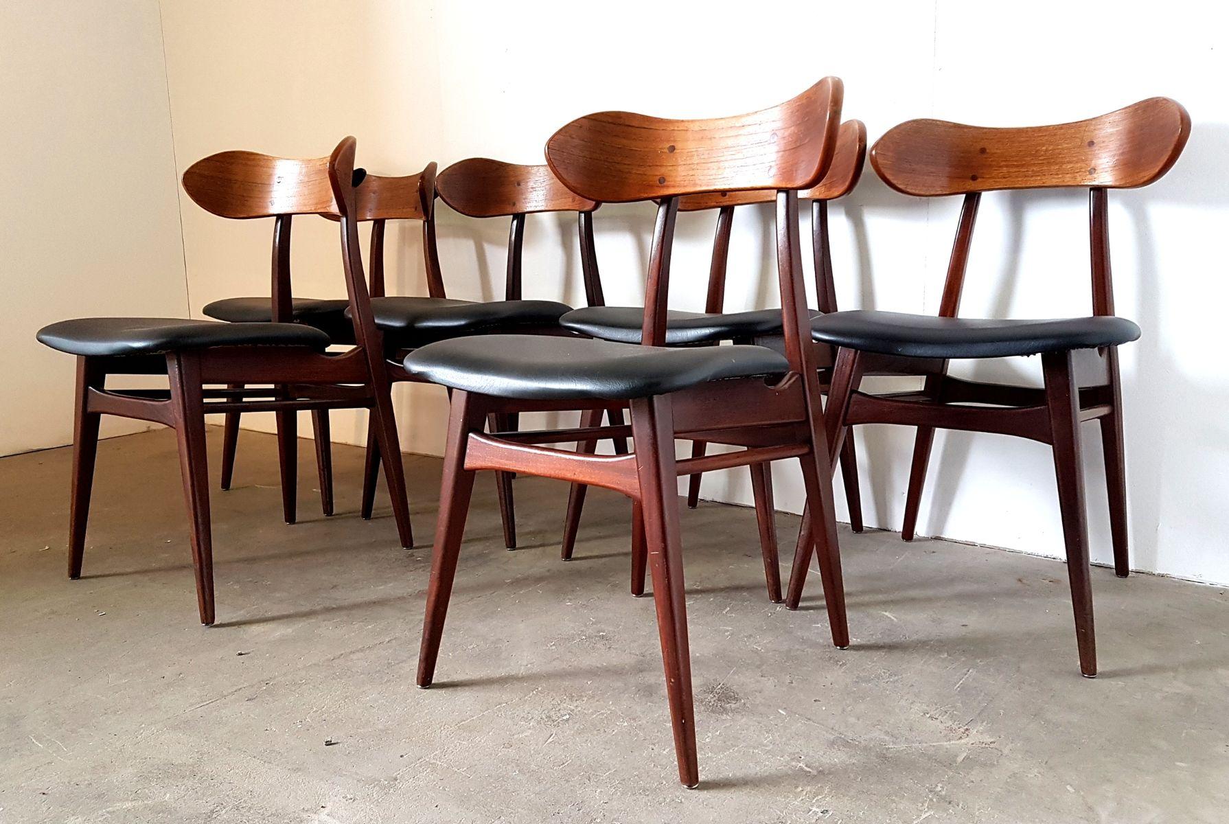 esszimmerst hle von louis van teeffelen f r w b 1960er. Black Bedroom Furniture Sets. Home Design Ideas