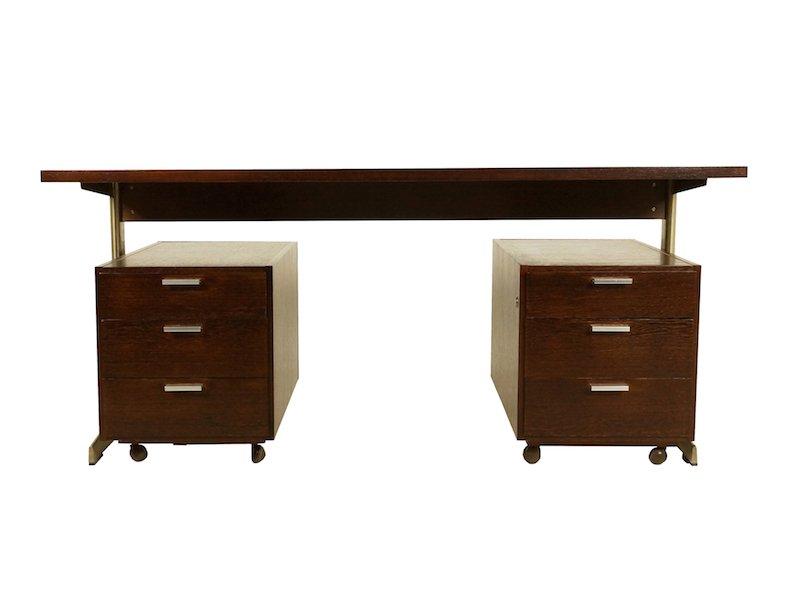 bureau en weng par cees braakman pour ums pastoe 1971 en. Black Bedroom Furniture Sets. Home Design Ideas