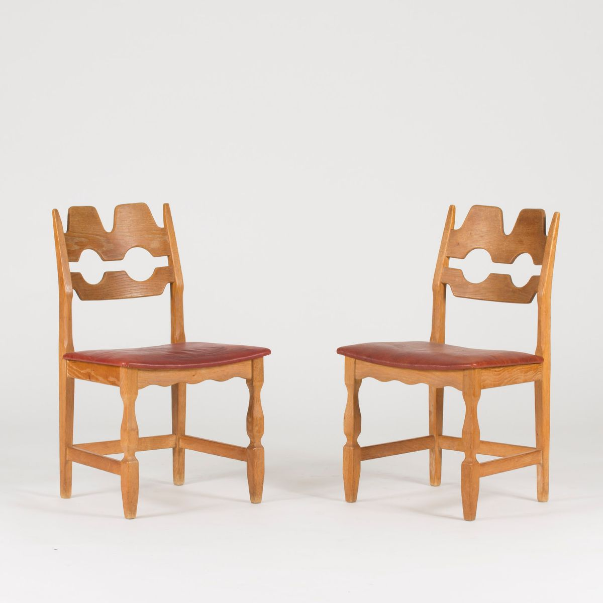 eichenholz esszimmerst hle von henning kj rnulf 1960er. Black Bedroom Furniture Sets. Home Design Ideas