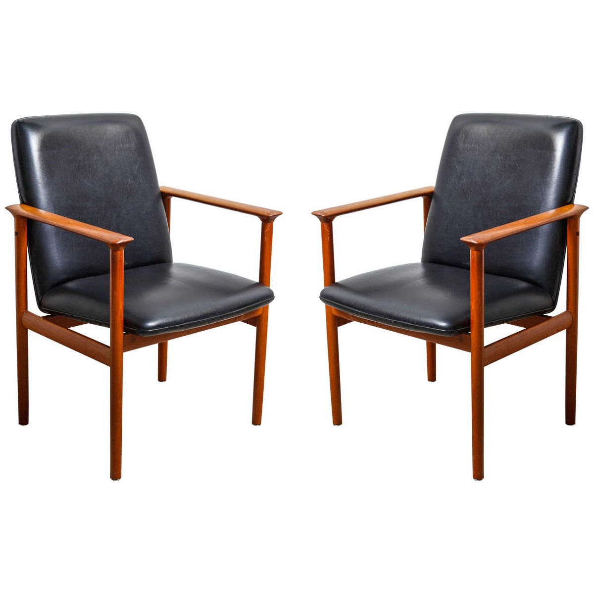 diplomat armchairs by arne vodder for sibast 1960s set of 2 for sale at pamono. Black Bedroom Furniture Sets. Home Design Ideas