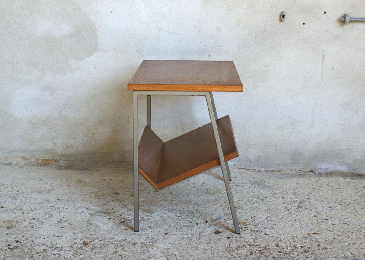 niederl ndischer vintage teakholz furnier beistelltisch. Black Bedroom Furniture Sets. Home Design Ideas