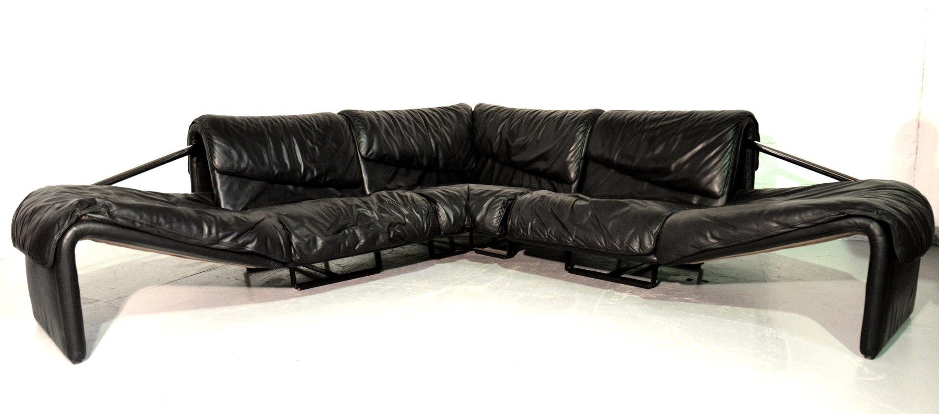 inmotion ecksofa aus leder von de sede 1970er bei pamono. Black Bedroom Furniture Sets. Home Design Ideas