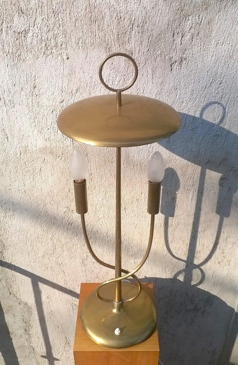 tischlampe aus messing 1940er bei pamono kaufen. Black Bedroom Furniture Sets. Home Design Ideas