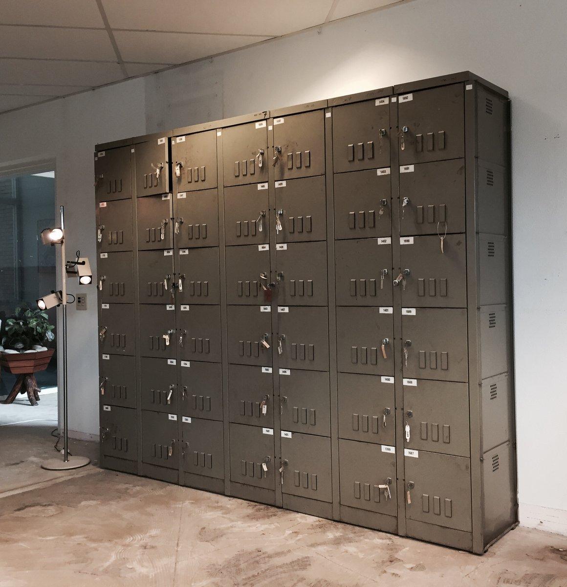 Superbe Vintage Industrial Cabinet By Mewaf, 1950s
