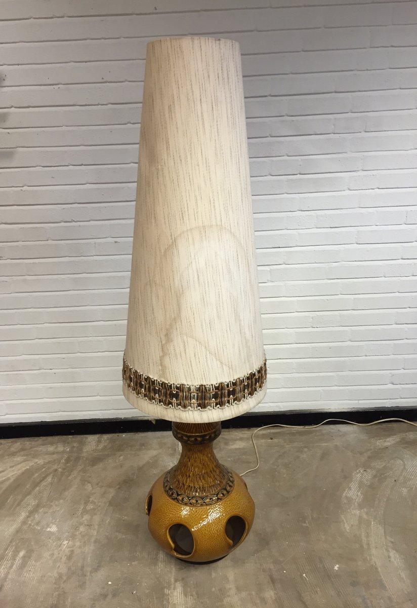 Large Vintage Ceramic Floor Lamp, 1960s - Large Vintage Ceramic Floor Lamp, 1960s For Sale At Pamono