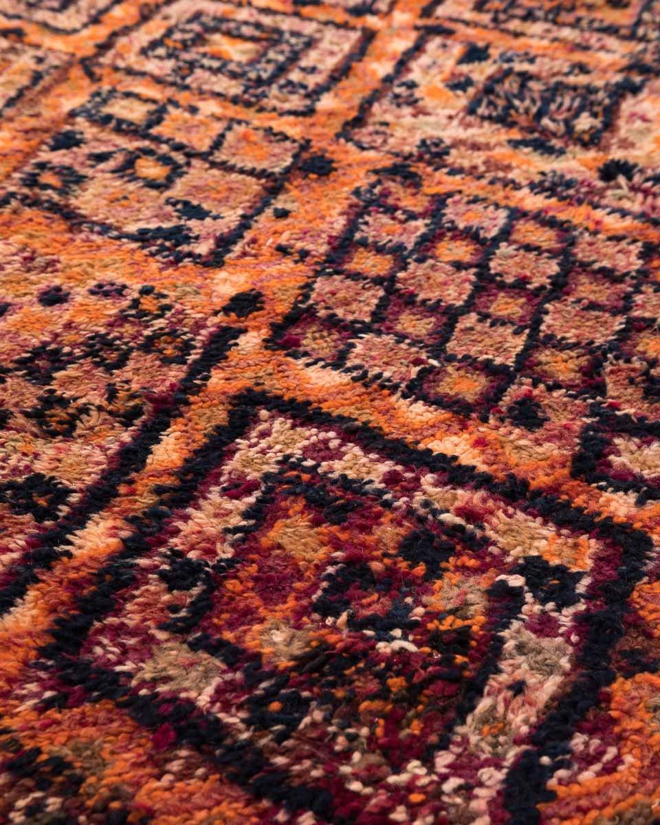 Vintage Moroccan Berber Carpet From Beni MGuild 1970s