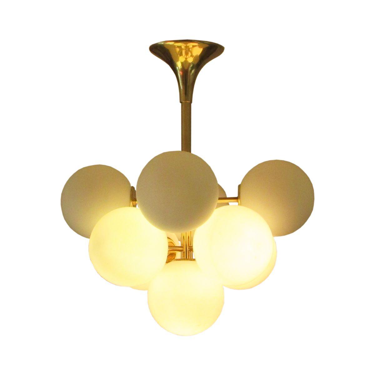 sputnik pendant lamps by max bill for temde 1960s set of. Black Bedroom Furniture Sets. Home Design Ideas