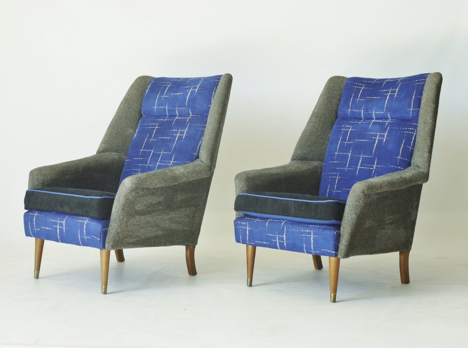 English upholstered armchairs 1950s set of 2 for sale at for 2 armchairs for sale