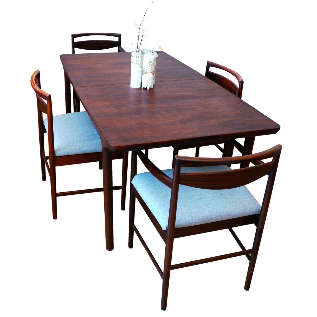 Tavolo da pranzo grande Mid-Century allungabile in palissandro di ...