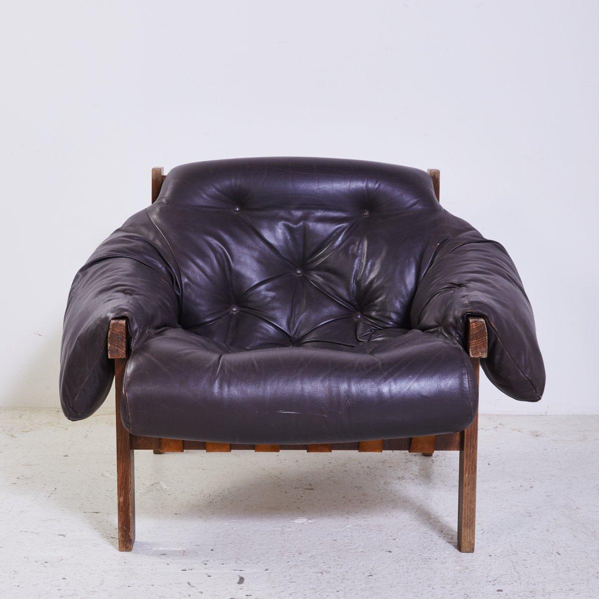 leder sessel mit ottomane 1970er bei pamono kaufen. Black Bedroom Furniture Sets. Home Design Ideas