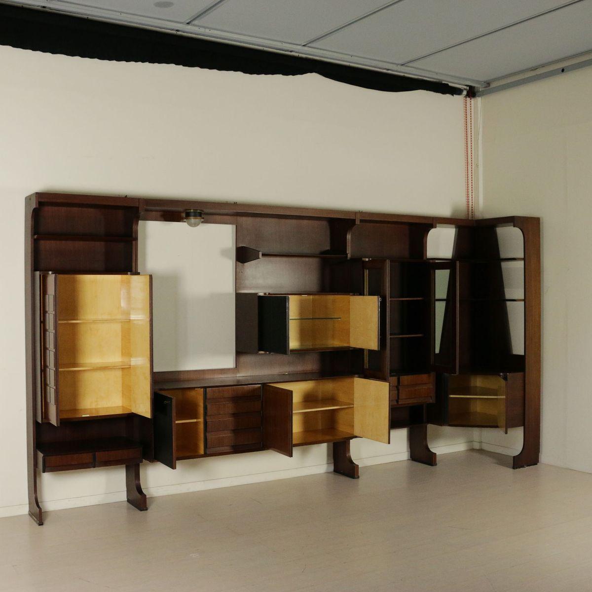 wohnzimmer kleiderschrank aus palisander furnier 1960er - Wohnzimmer Kleiderschrank