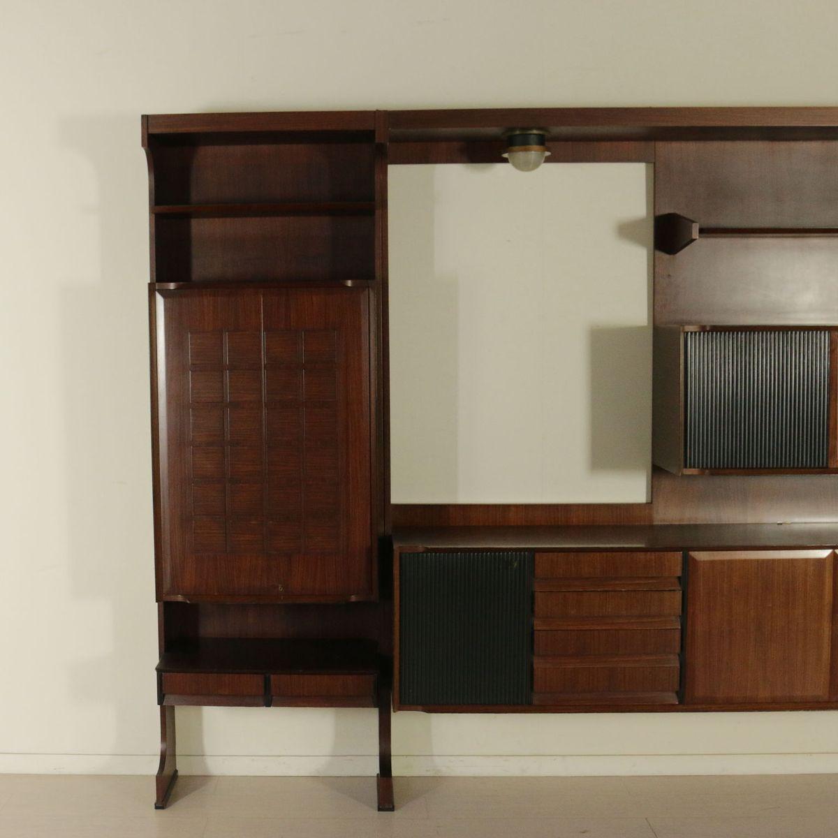 wohnzimmer kleiderschrank aus palisander furnier 1960er bei pamono kaufen. Black Bedroom Furniture Sets. Home Design Ideas
