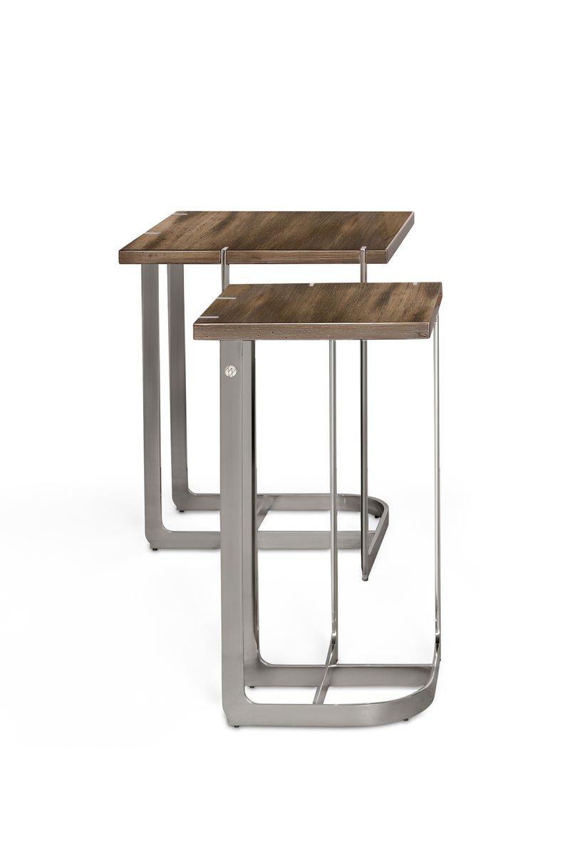 mondrian beistelltisch aus edelstahl 27 x 27 bei pamono kaufen. Black Bedroom Furniture Sets. Home Design Ideas