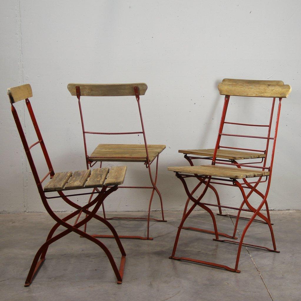 Vintage Outdoor Stühle, 1900er, 4er Set bei Pamono kaufen