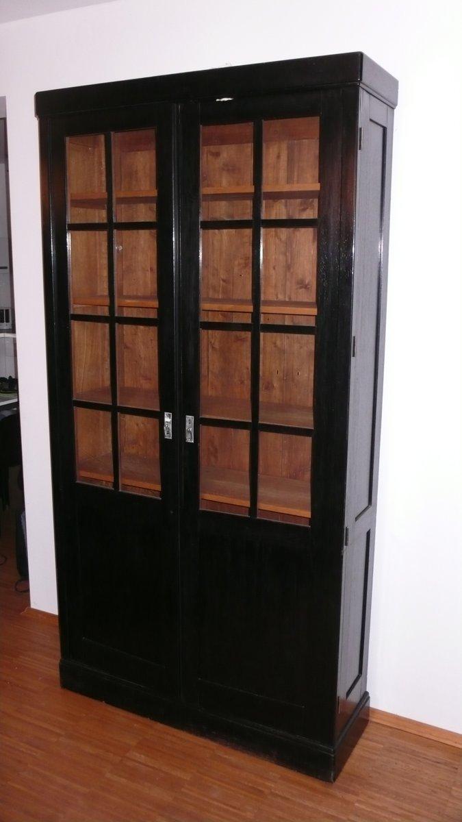 art deco b cherregal mit glasfront 20 jahrhundert bei pamono kaufen. Black Bedroom Furniture Sets. Home Design Ideas
