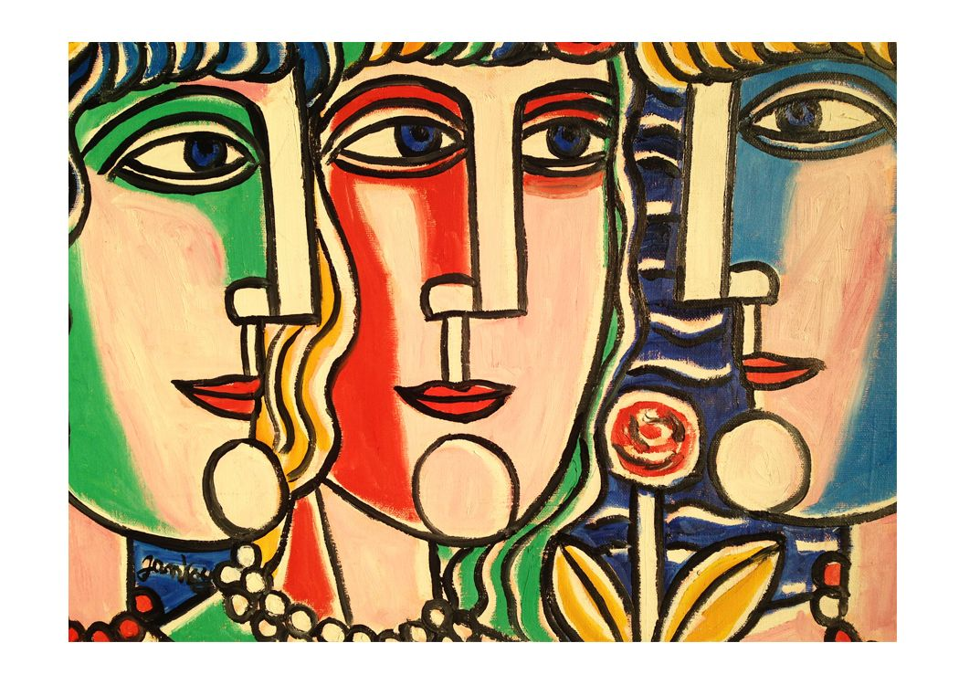 Three Graces Wall Decor by Tibor Jankay, 1989 for sale at Pamono