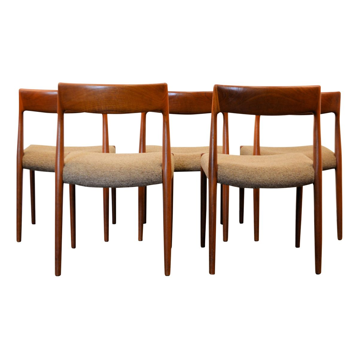 Nr 77 Teak Dining Chairs By Niels O M 248 Ller For J L