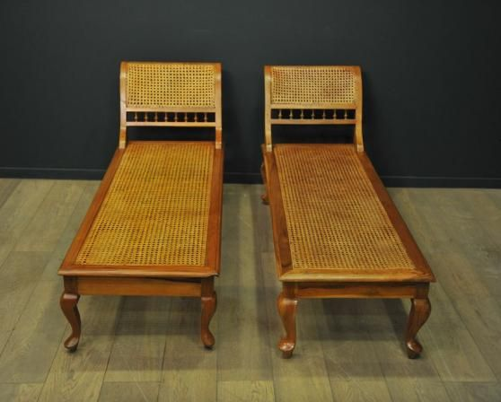 Cane wood chaise lounge for sale at pamono for Chaise longue for sale ireland