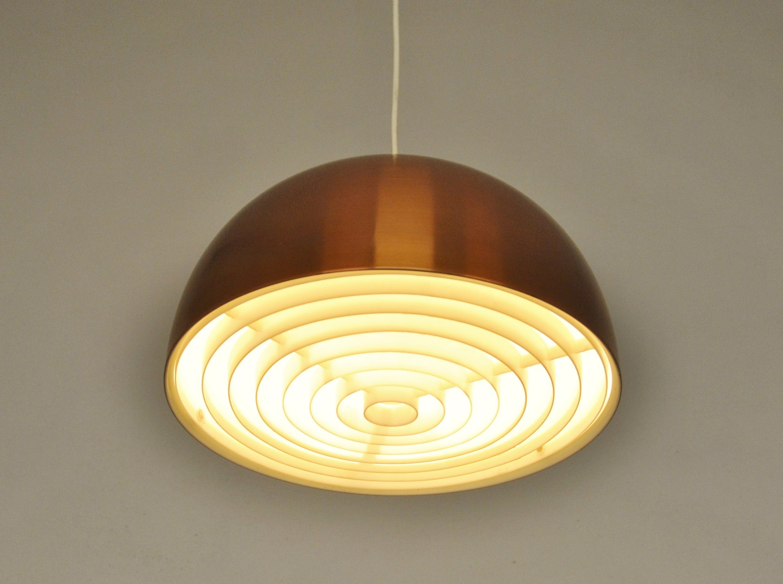 Scandinavian Vintage Copper Pendant Lamp 1960s