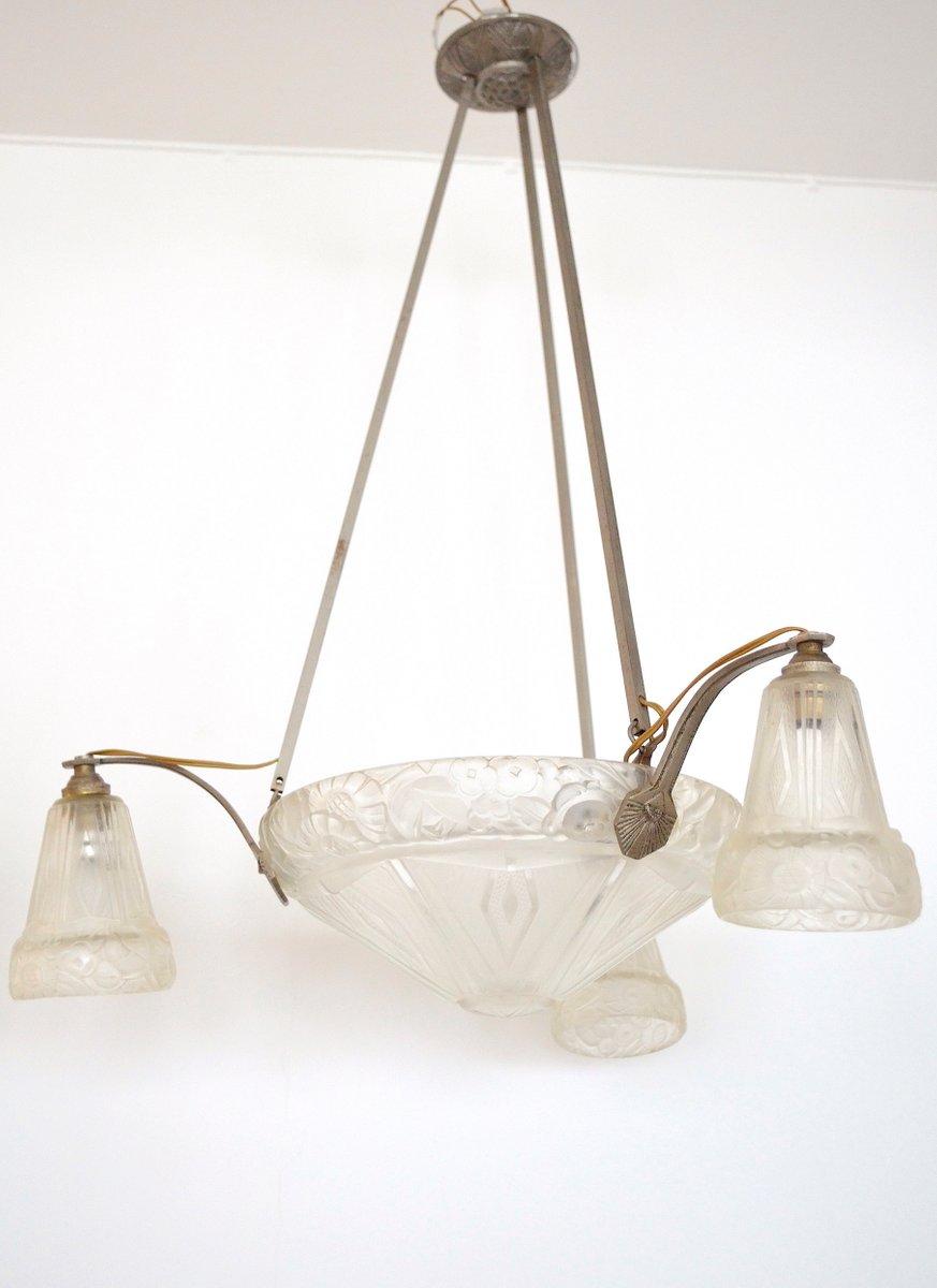 Antique art deco pendant light from a ollier for sale at pamono antique art deco pendant light from a ollier arubaitofo Gallery