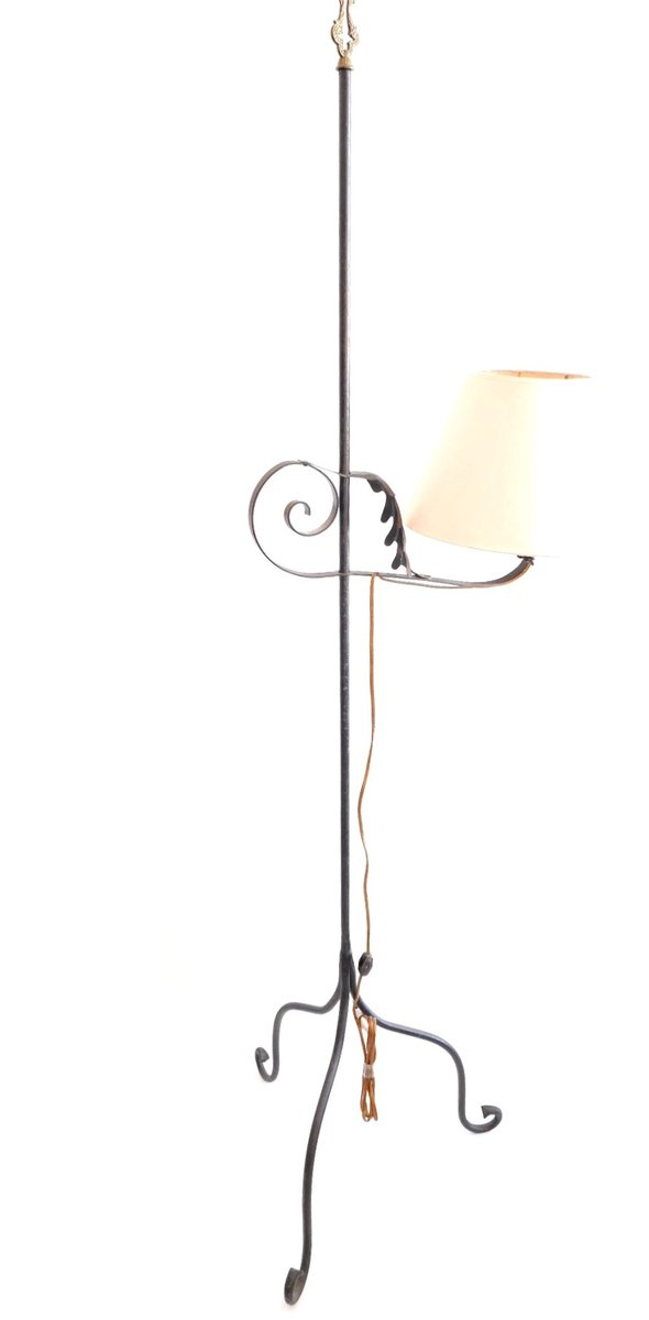 Vintage wrought iron floor lamp 1960s for sale at pamono vintage wrought iron floor lamp 1960s 10 44600 mozeypictures Images