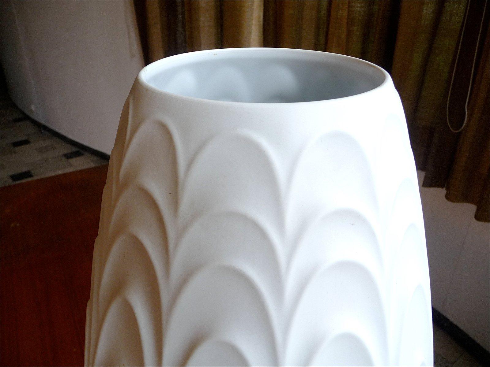 gro e deutsche porzellan bodenvase von h c heinrich. Black Bedroom Furniture Sets. Home Design Ideas