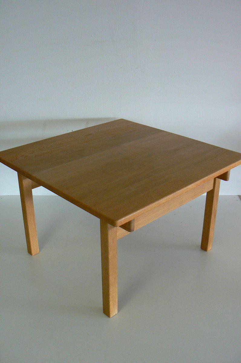 quadratischer esstisch aus eiche von kurt ostervig f r k p. Black Bedroom Furniture Sets. Home Design Ideas