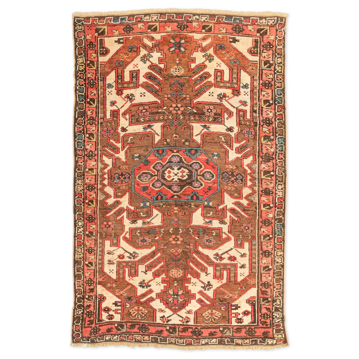 tapis kazakh caucasien antique avec motifs g om triques 1900s en vente sur pamono. Black Bedroom Furniture Sets. Home Design Ideas