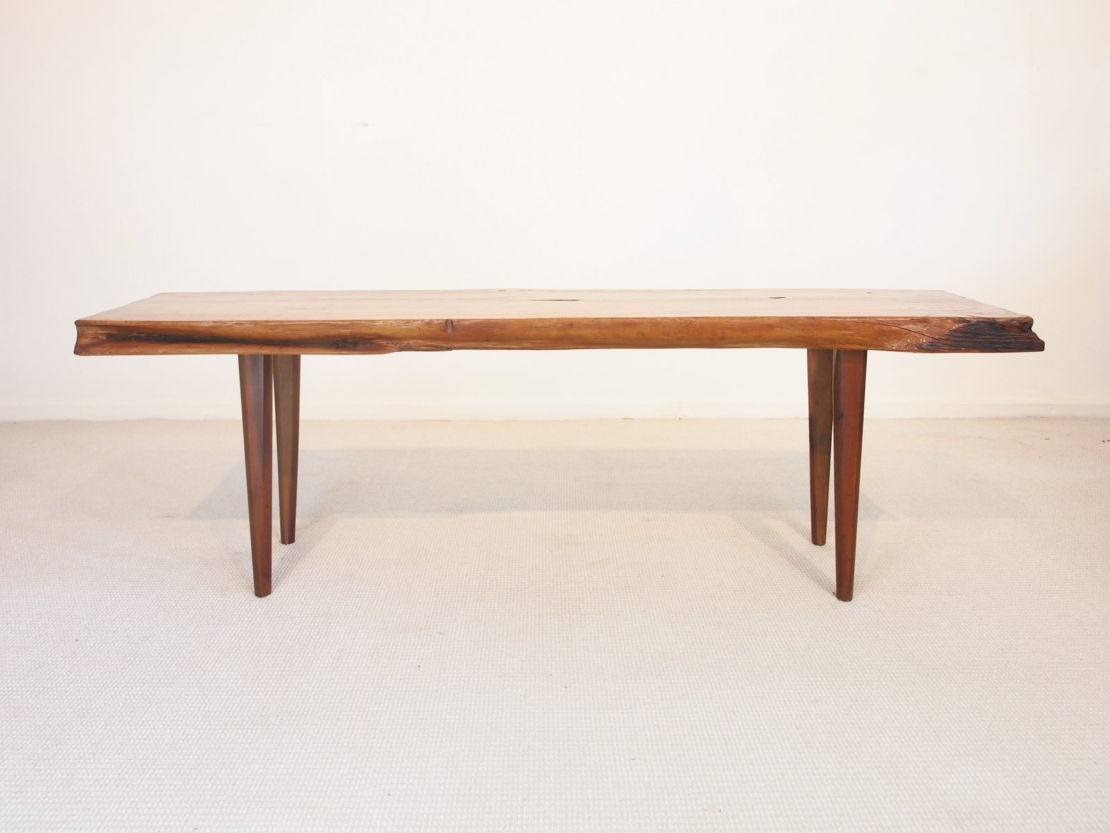 Midcentury Wooden Slab Coffee Table From Reynolds Of Ludlow For
