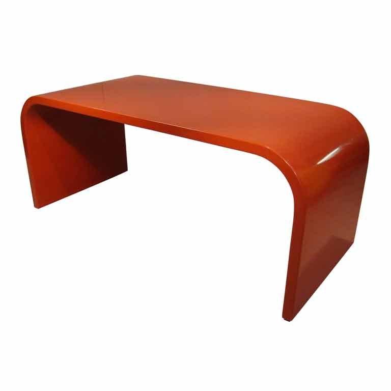 roter vintage schreibtisch 1960er bei pamono kaufen. Black Bedroom Furniture Sets. Home Design Ideas