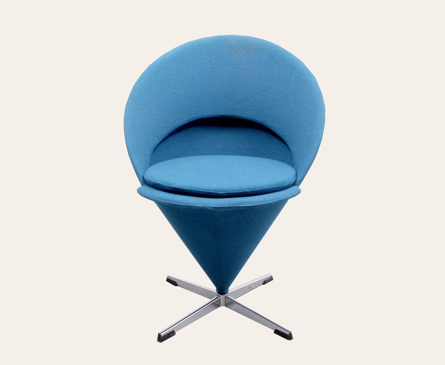 eist te cone von verner panton blau petrol bei pamono kaufen. Black Bedroom Furniture Sets. Home Design Ideas