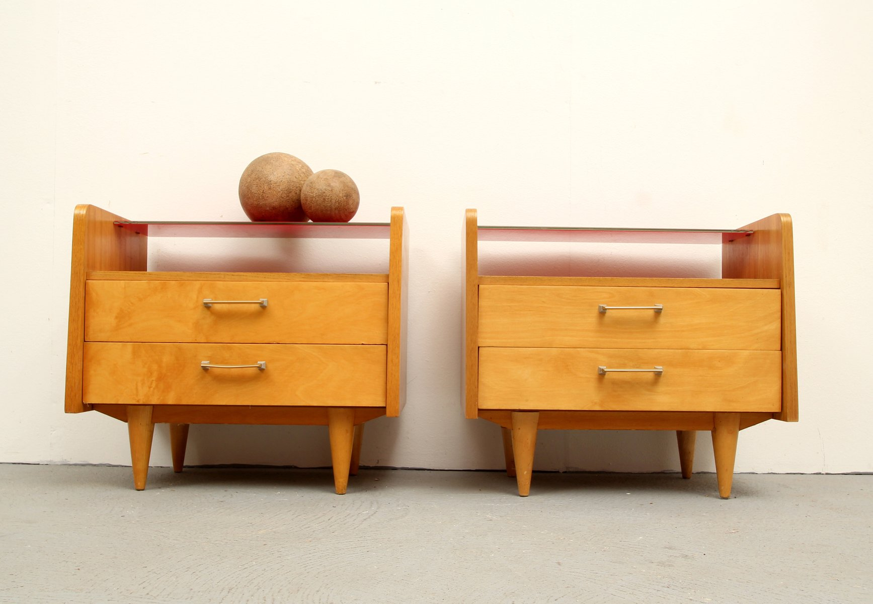 mid century duo xs kommode 1950er 2er set bei pamono kaufen. Black Bedroom Furniture Sets. Home Design Ideas
