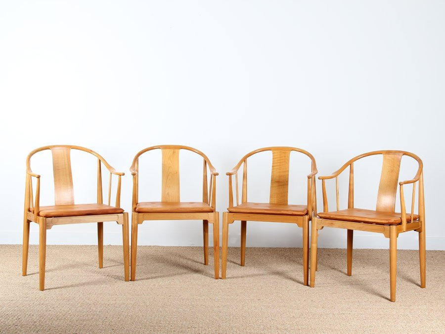 Beautiful China Chair Model 4283 Dining Chairs By Hans J. Wegner For Fritz Hansen,  Set Of 4 For Sale At Pamono