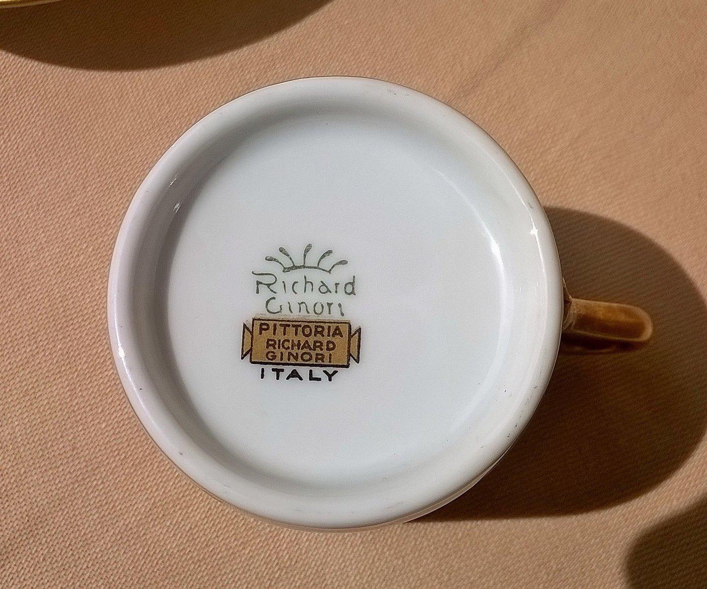 Set da tè di Gio Ponti per Richard Ginori, 1935 in vendita su Pamono