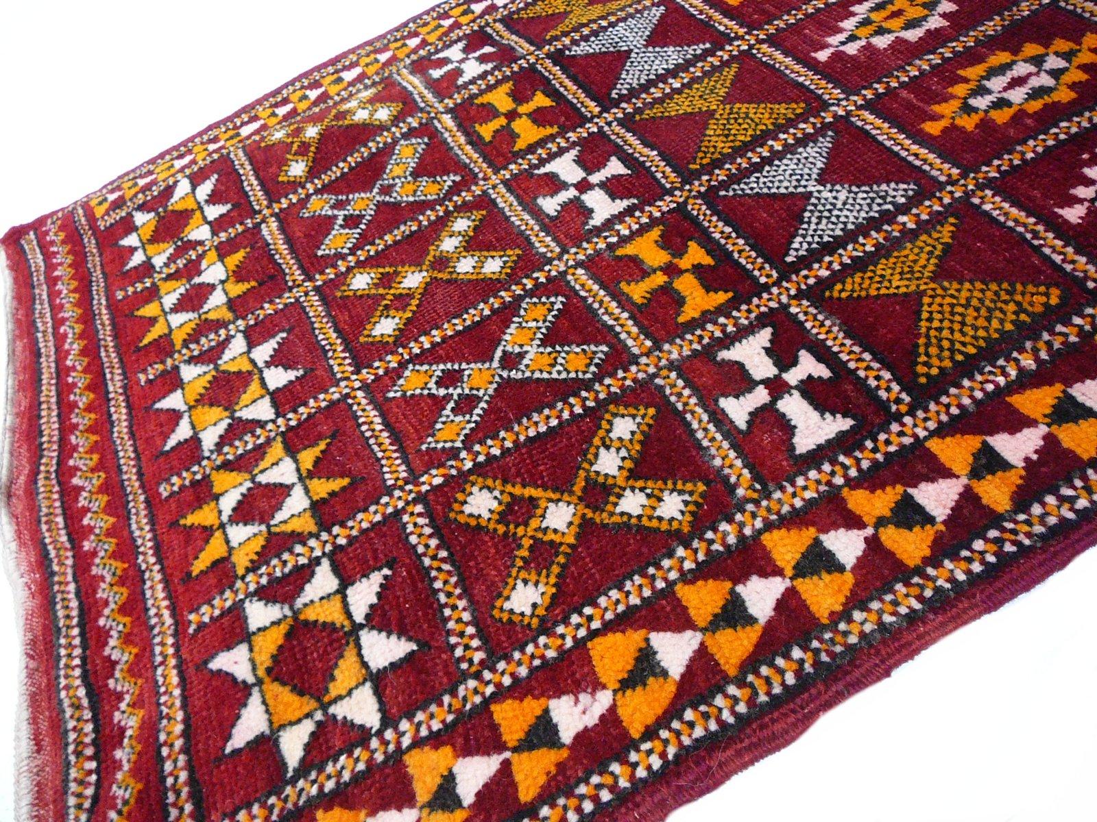tapis zemmour berber vintage en vente sur pamono. Black Bedroom Furniture Sets. Home Design Ideas