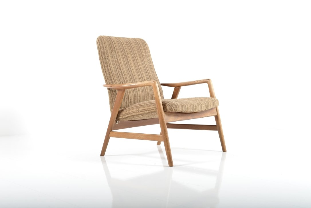 Captivating Mid Century Lounge Chair By Alf Svensson For Fritz Hansen, 1960s