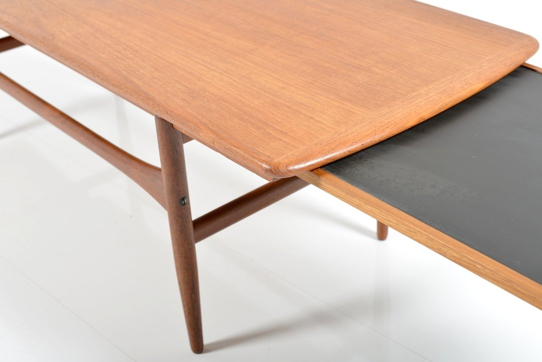 Extendable Teak and Formica Coffee Table 1950s for sale at Pamono
