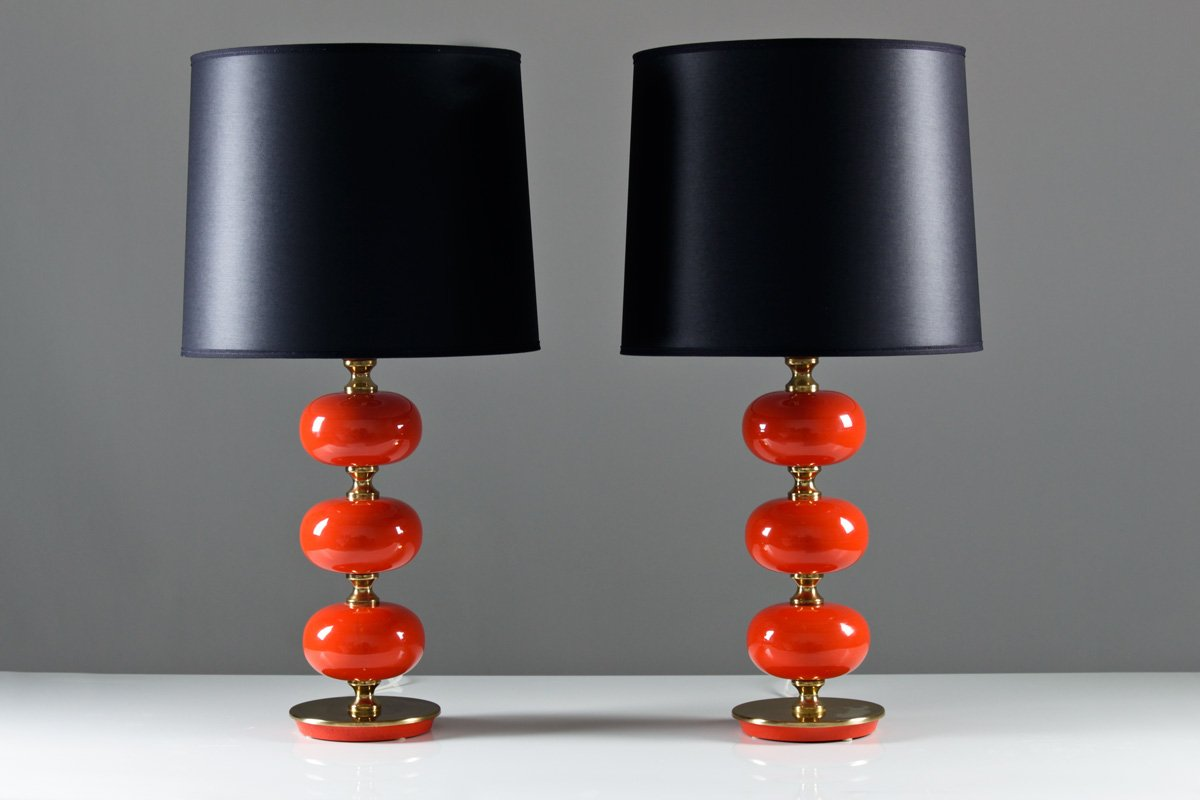 Lampade da tavolo vintage di tranas stilarmatur set di 2 - Lampade da tavolo vintage ...
