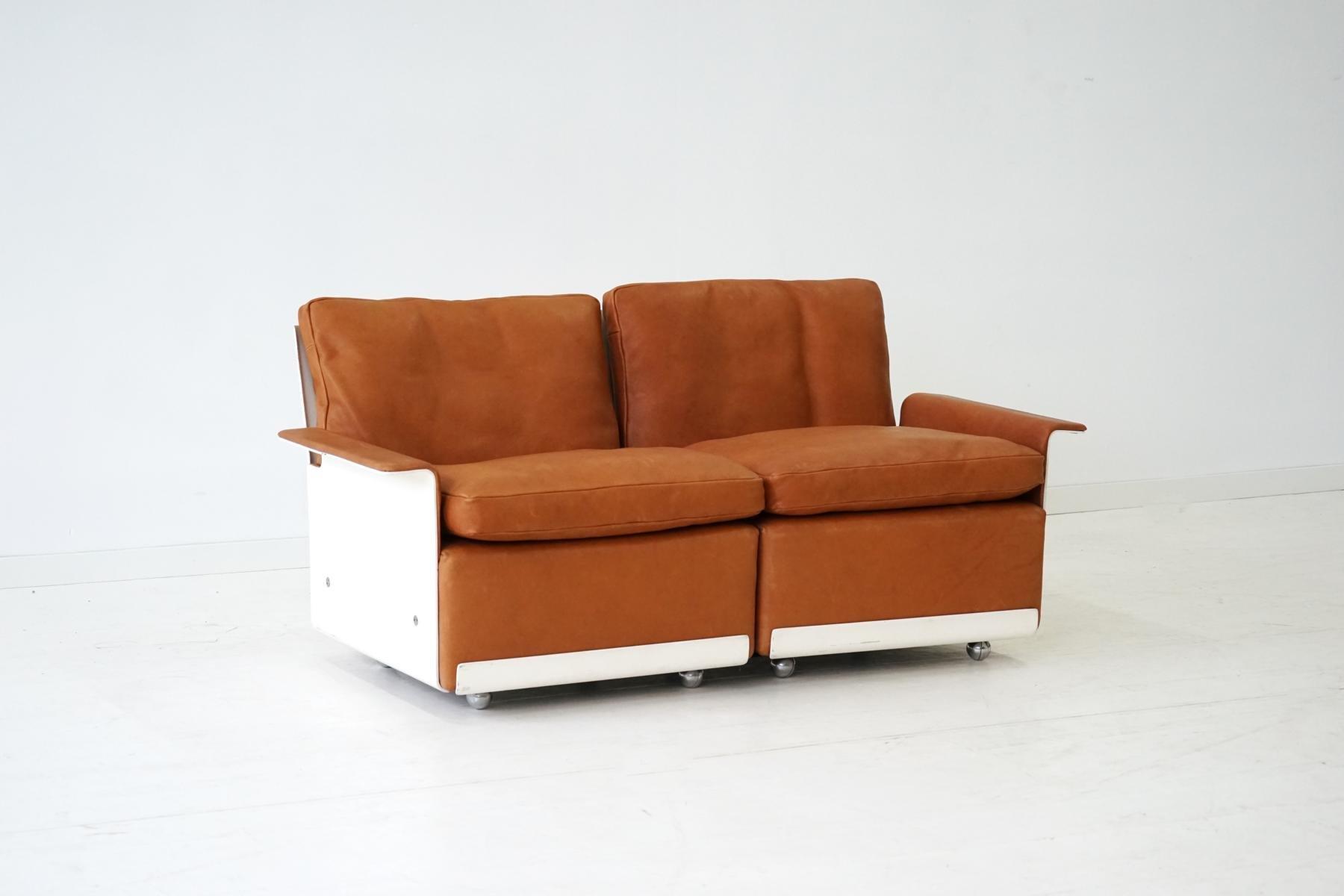 modulares rz 62 620 zwei sitzer sofa aus leder von dieter. Black Bedroom Furniture Sets. Home Design Ideas