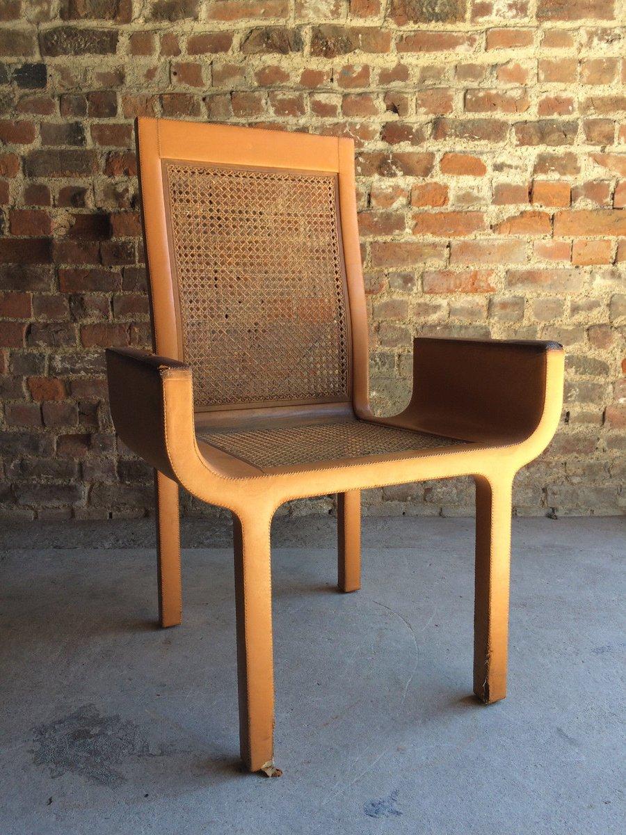 Sessel aus hellbraunem leder buche von john makepeace for Sessel aus leder