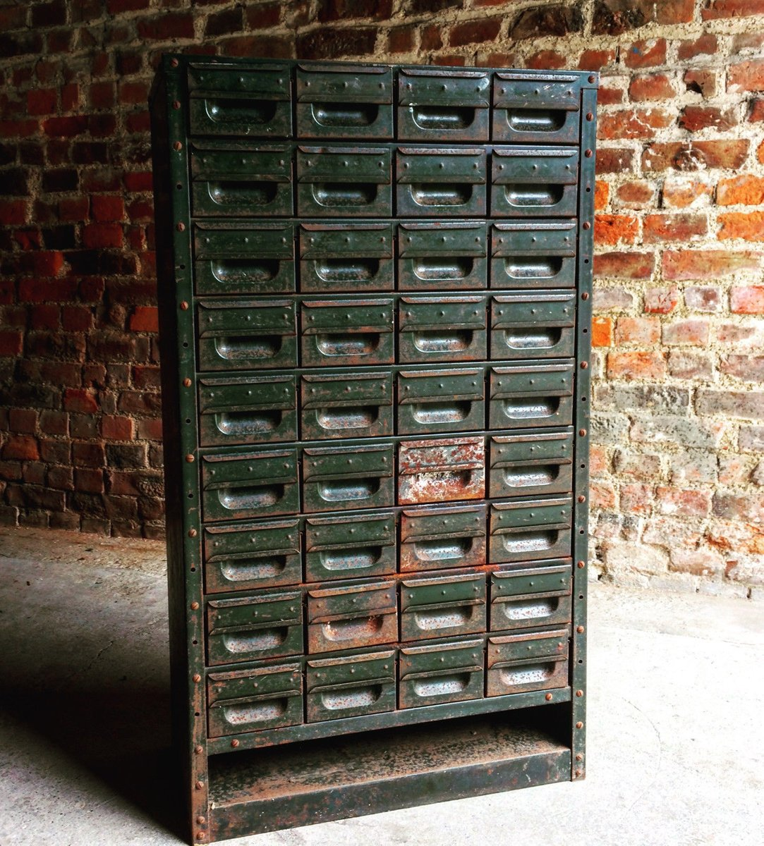 Industrial Steel Cabinet With 36 Drawers For Sale At Pamono