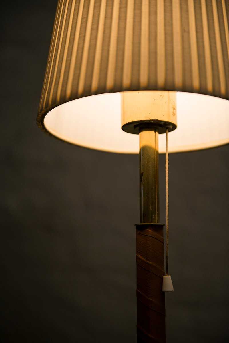 Brass and leather floor lamp 1950s for sale at pamono aloadofball Images